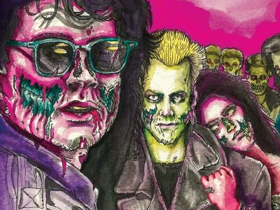 The Lost Zombie Boys drawlloween inktober zombie retro 80s the lost boys