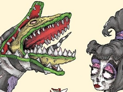 Lydia And The Sandworm undead zombie horror beetlejuice lydia deetz sandworm