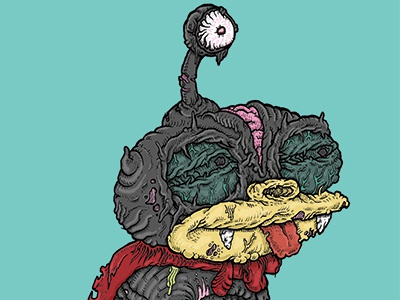 Zibbler zombie undead cyclops alien futurama