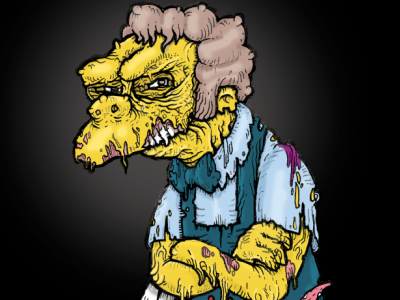 Always trust your gut feeling zombie zombiewave darkwave the simpsons simpsons