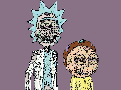 Weddings are basically funerals with cake lowbrow horror zombie adultswim morty rick rick and morty