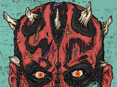 Undead Darth Maul zombie undead sci fi darth maul star wars
