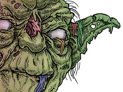 Zombie Yoda scifi horror undead zombie yoda star wars