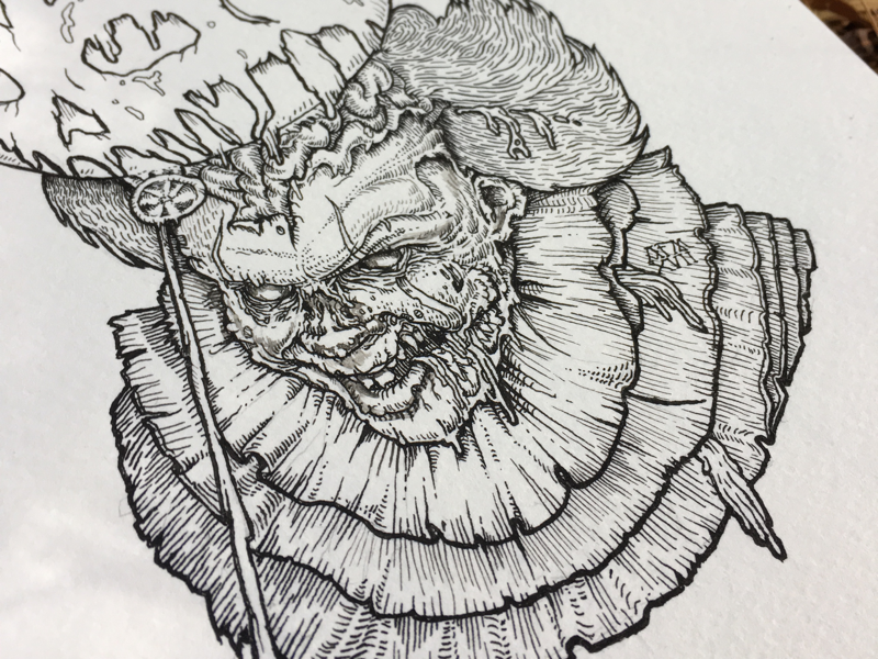 It's Undead illustration it pennywise clown