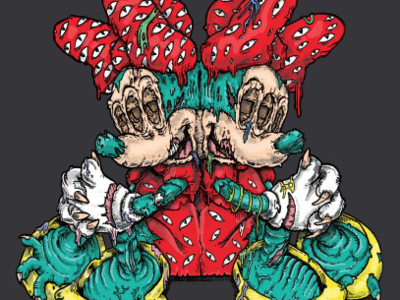 Minnie's Duality undead inktober halloween zombie twins conjoined mouse minnie minnie mouse