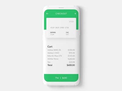 Credit card check out dailyui002 002 dailyui card creditcard mobileappdesign visualdesign interactiondesign ux ui