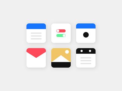 Minimal Icons 005 dailyui icons visualdesign interactiondesign ux ui