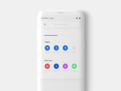 Notification toggles android statusbar notificationbar quicksettings settings visualdesign interactiondesign ux ui