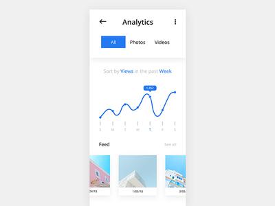 Analytics card minimal blue analytics interaction ux ui