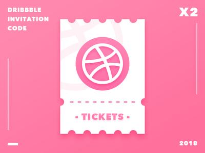 Dribbble invitation code x 2