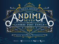 Andimia Layered Fonts Family
