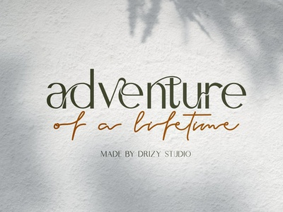 Adventure Of A Lifetime branding design typeface font duo futuristic typography dribbble popular quote font