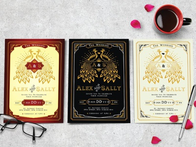 Wedding Invitation design poster logo wedding wedding invitation typeface dribbble popular typogaphy vintage flyer font