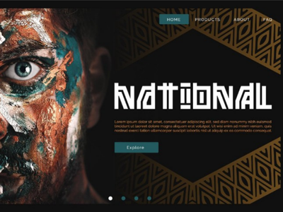 National Landing Page dribbble ethnic font