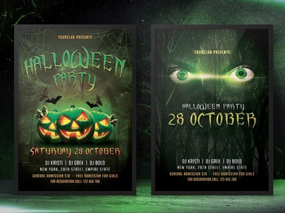 Halloween Flyers poster flyer scary halloween new type popular typeface dribbble typography font