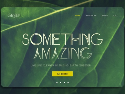 Something Amazing Landing Page branding new user interface typeface landingpage uidesign uiux ui dribbble typography font