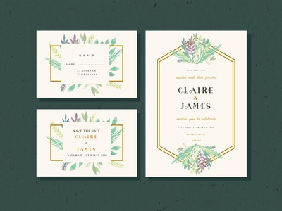 Wedding Invitation modern watercolor wedding wedding invitation typeface popular dribbble typography font