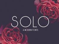 Solo A Modern Fonts