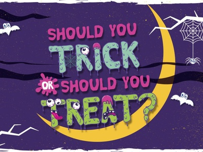 Trick Or Treat new design horror type halloween logo typeface popular dribbble typography font