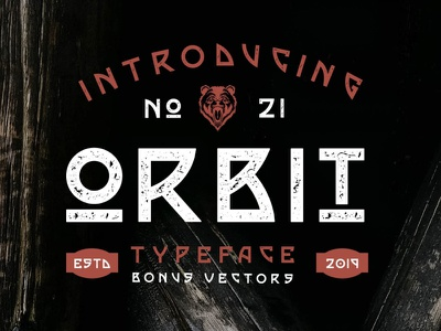 Orbit Typeface animal vector retro vintage vector otf type logo typeface popular dribbble typography font