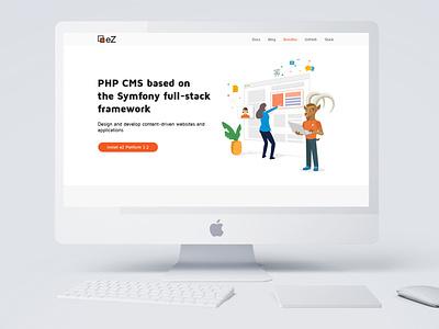 eZ Platform Website ux landing page webdesign website illustrator