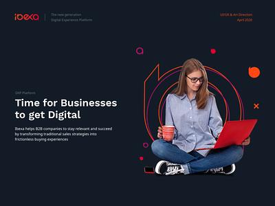 Ibexa - Digital Experience Platform case study website web ux ui logo landing page illustration icons homepage branding