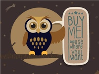6 Alternates of Owl Illustrations