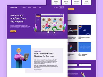 DesignGost Platform Homepage website ux design ui design product design platform landingpage illustration home page character blender 3d