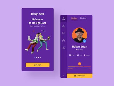 Mentoring App illustraion mentoring mobile design ux ios app 3d