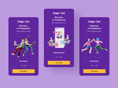 Mentoring App illustraion product design ui ux mobile mentoring app ios design product 3d