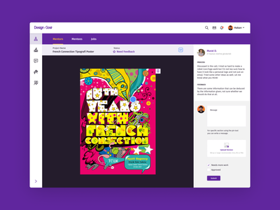 DesignGost Platform - Feedback ux design ui design platform messenger message mentoring mentor learning knowledge figma education design dashboard courses conference chat application app