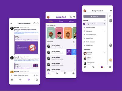 DesignGost - Mentoring App design ux ui uidesign mobile mentoring ios app iphone 3d