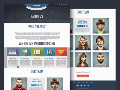 Hakan Ertan Projects Free Flat Web Template Dribbble - About us template for website