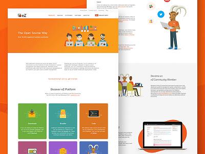Open Source Landing Page minimal illustration timeline ui design ux design website landing page open source