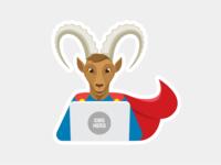CMS Hero Sticker