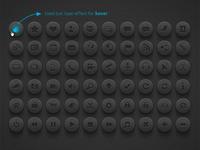 Media & Communication Buttons | Dark