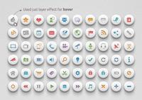 Media & Communication Buttons | Soft