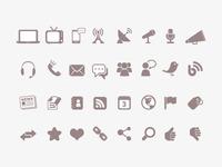 Communication & Media Icons