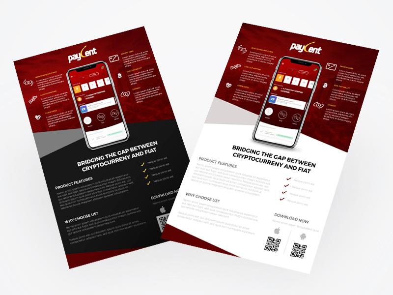 wallet app flyer designs by mark aldrich dela santa dribbble