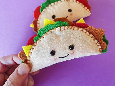 Taco Plushies plushie plush sewing tacos food fun felt crafts