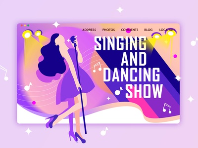 Sing and dancing show