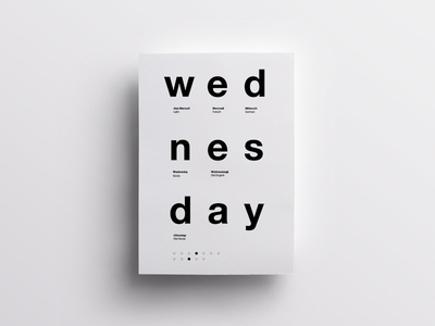 3/7 One Week in Type typography type swiss design clean minimal helvetica poster daily layout