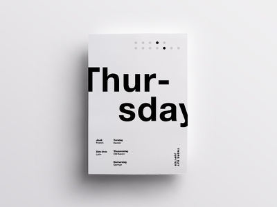 4/7 One Week in Type layout daily poster helvetica minimal clean design swiss type typography
