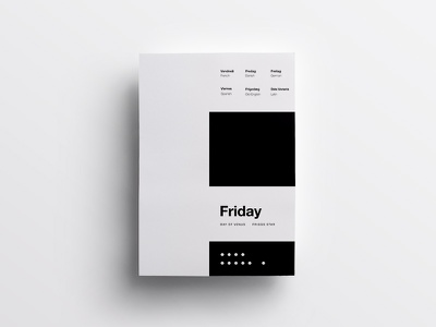 5/7 One Week in Type typography type swiss design clean minimal helvetica poster daily layout