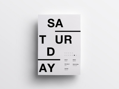 6/7 One Week in Type layout daily poster helvetica minimal clean design swiss type typography