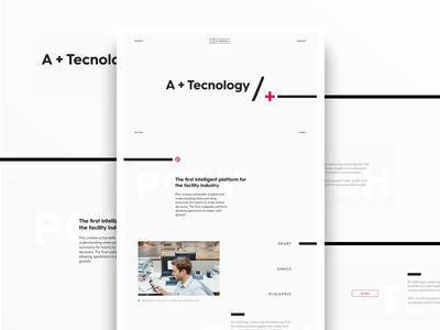 AAC - Homepage concept typography white minimalism minimal branding brand design clean ui ux web