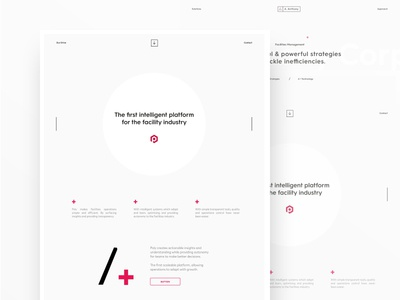AAC - Page Content web ux ui clean design brand branding minimal minimalism white typography