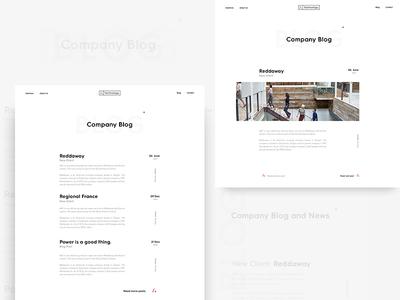 AAC - Blog typography white minimalism minimal branding brand design clean ui ux web