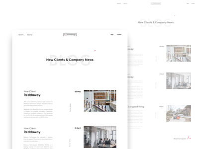 AAC - Blog Concept web ux ui clean design brand branding minimal minimalism white typography