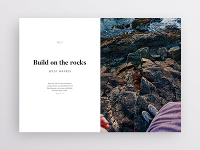 Layout Exploration 3 photography type typography white simple minimalism minimal brand design clean